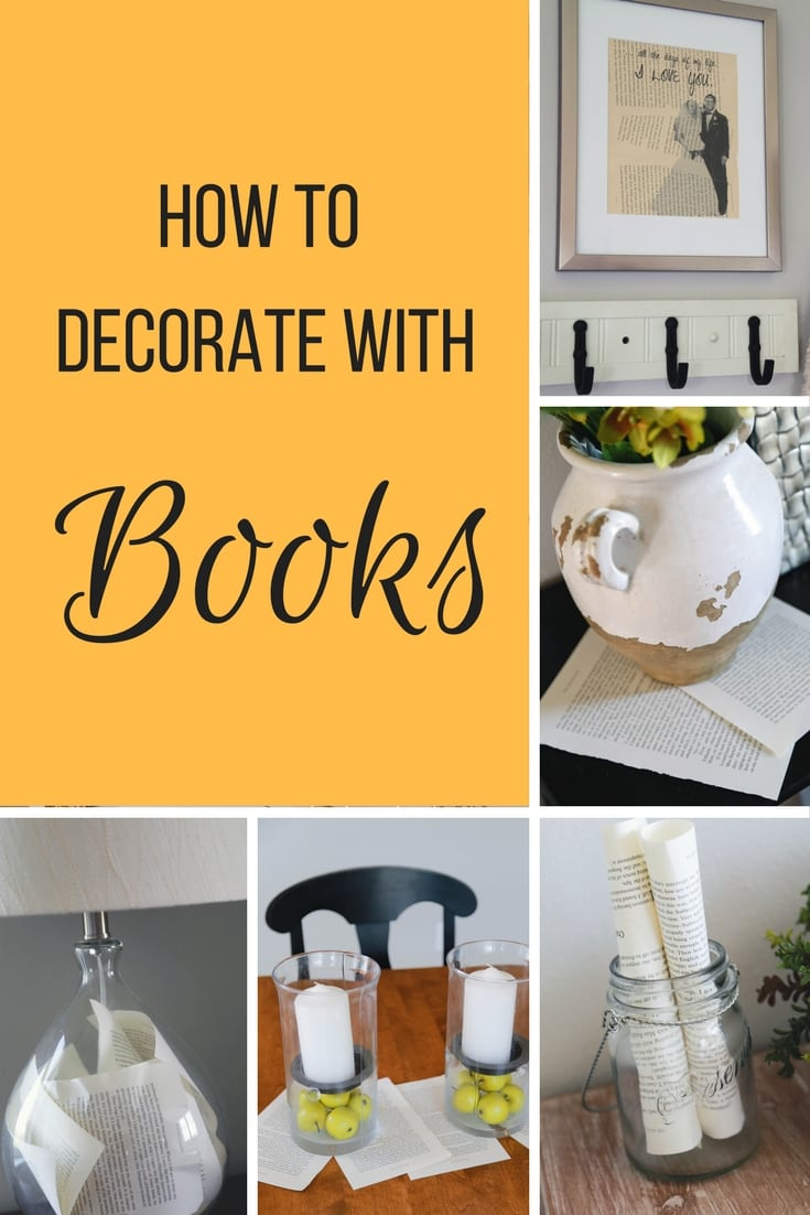 Decorate With Books, How To Decorate With Books, How To Creatively Decorate  With Books