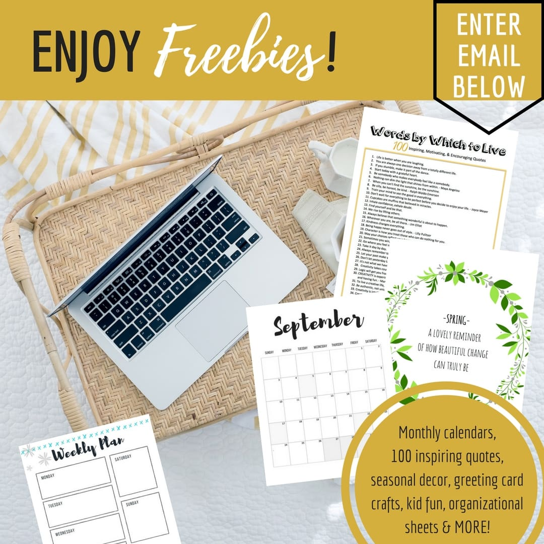 enjoy freebies, freebies, monthly calendars, organizational sheets, kid crafts, 100 inspiring quotes, top inspiring quotes, seasonal decor, printable, printables, free printables, free printables