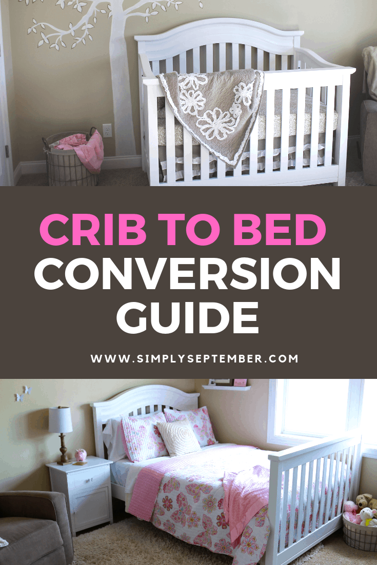 crib conversion to a children s bed