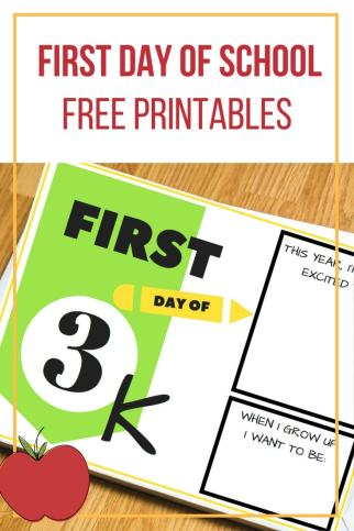 first day of school free printables, school, first day of school, 3k, 4k, 5k, 1st grade, 2nd grade, 3rd grade, 4th grade, 5th grade, 6th grade, 7th grade, 8th grade, 9th grade, 10th grade, 11th grade, 12th grade, printable, free printable, family tradition, scrapbook, last day of school, 1st day of school sign, 1st day of school, 1st day