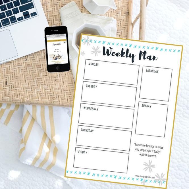 weekly plan printable 2