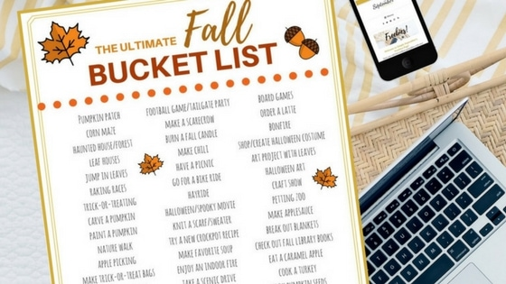 The Ultimate Fall Bucket List: FREE Printable - Simply ...