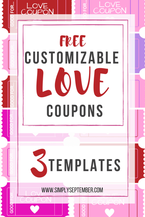 The Perfect Valentine's Day Gift for the Entire Family: Love Coupons, Valentine's Day, love, love coupons, coupons, personalized coupons, kid coupons, significant coupons, Love Coupons