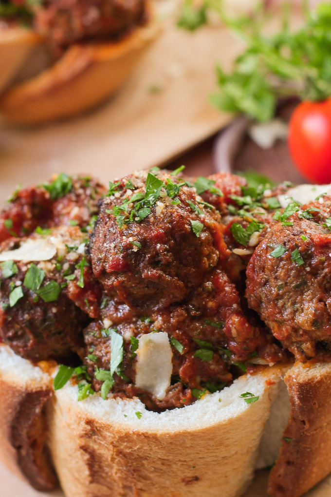 Slow Cooker Italian Meatballs are quick, whole-food friendly, and delicious!