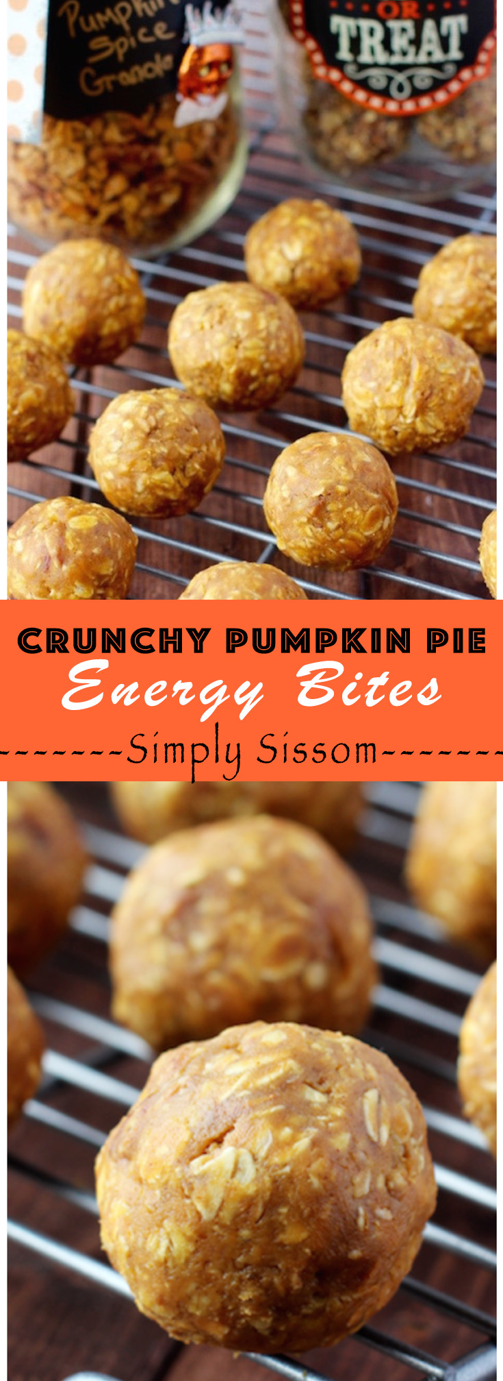 Crunchy Pumpkin Pie Energy Balls are the perfect grab and go snack, post work-out treat, or treat when you are craving something sweet!