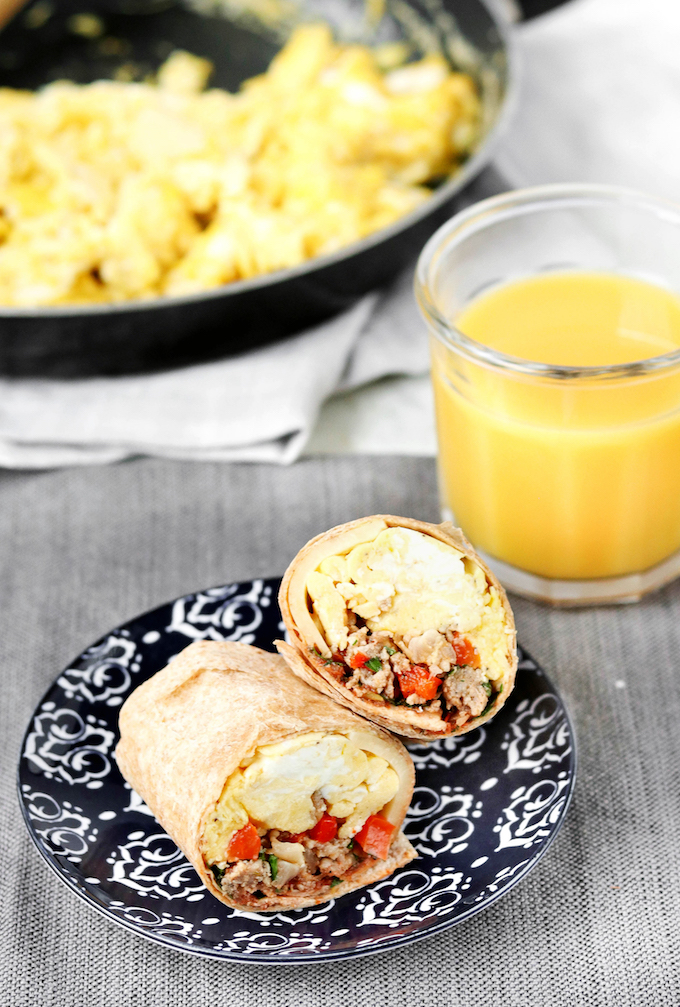 Freezer-Friendly Breakfast Burritos are simple to make, requiring just 8 ingredients. Easy to make, simple to customize and perfect for hectic, chaotic weekday mornings.