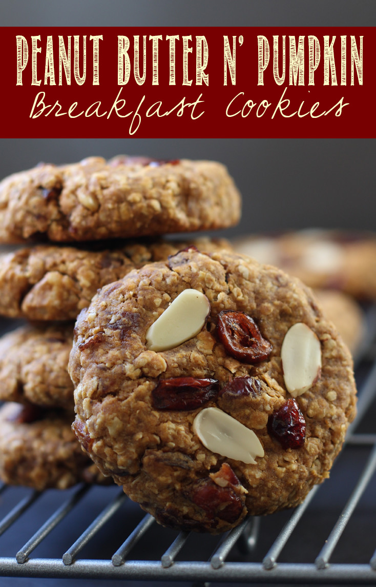 Peanut Buttern N' Pumpkin Breakfast Cookies make a perfect whole-food grab and go breakfast. Refined sugar and oil free.