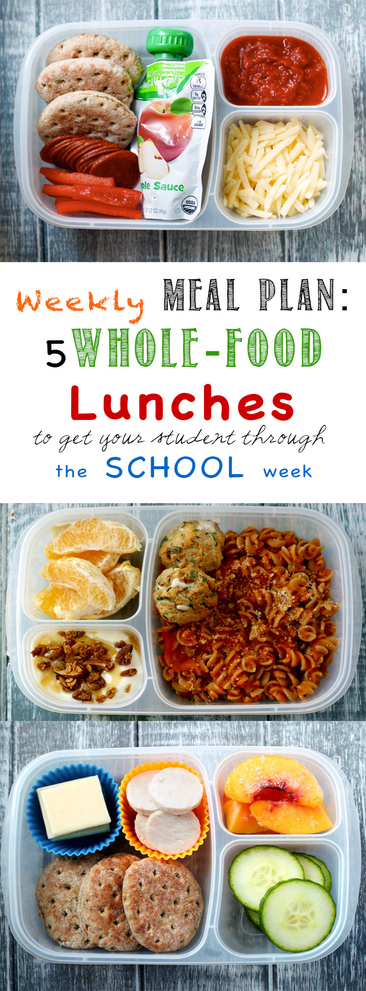 Weekly Meal Plan: School Lunch Edition - Planning lunches is monotonous and time consuming. This will help!