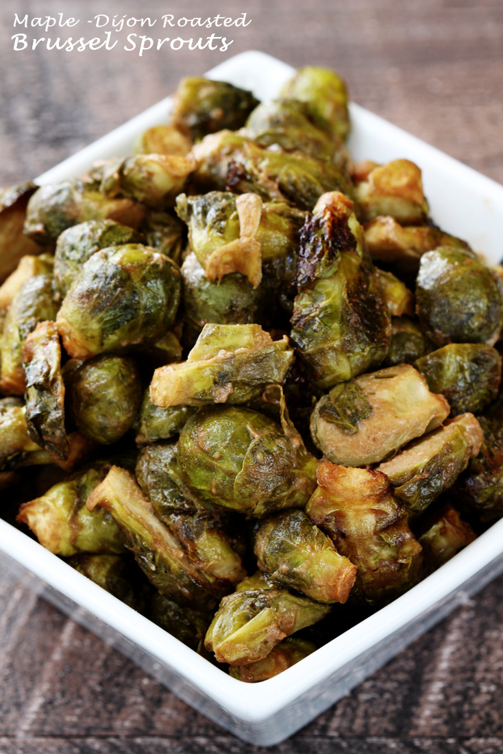 Maple Dijon Roasted Brussel Sprouts Simply Sissom