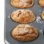 Healthy Gingerbread Muffins with Crumbly Maple Topping