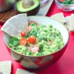Creamy mashed avocado combined with lemon and lime citrus juice, tomato, onion, fresh cilantro, spicy jalapeno and seasoning.. Yep good ol' Super Simple 5-Minute Guacamole!