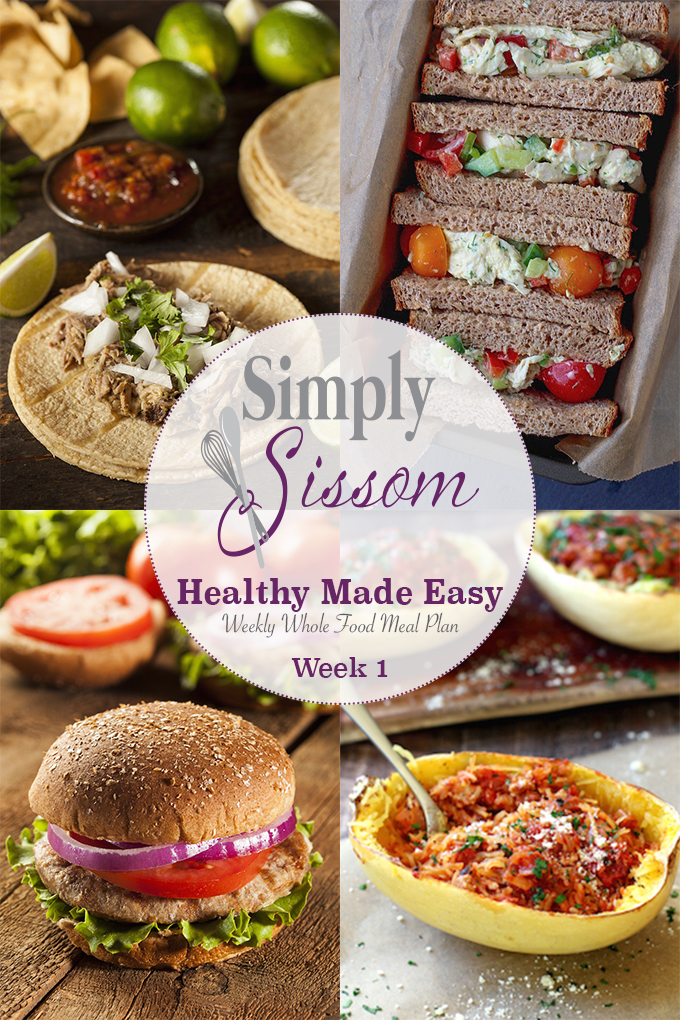 Weekly meal plan healthy made easy 1 simply sissom simply sissom weekly meal plan clean eating doesnt have to be completed forumfinder Image collections