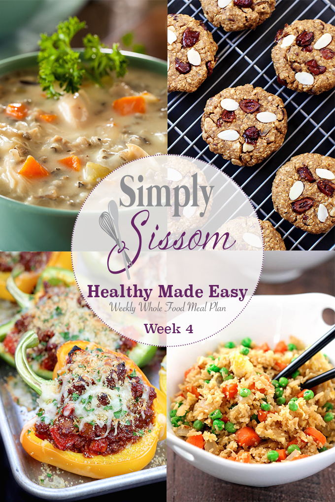 Simply Sissom Weekly Meal Plan: Clean eating doesn't have to be completed. Grocery list, menu, and recipes included.