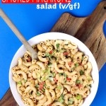 Vegan 30 Minute Smoked Macaroni Salad requires 1 bowl, 30 minutes and is mayo free! #glutenfree #vegan #wholefood