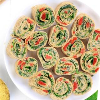 Roasted Red Pepper Italian Pinwheels