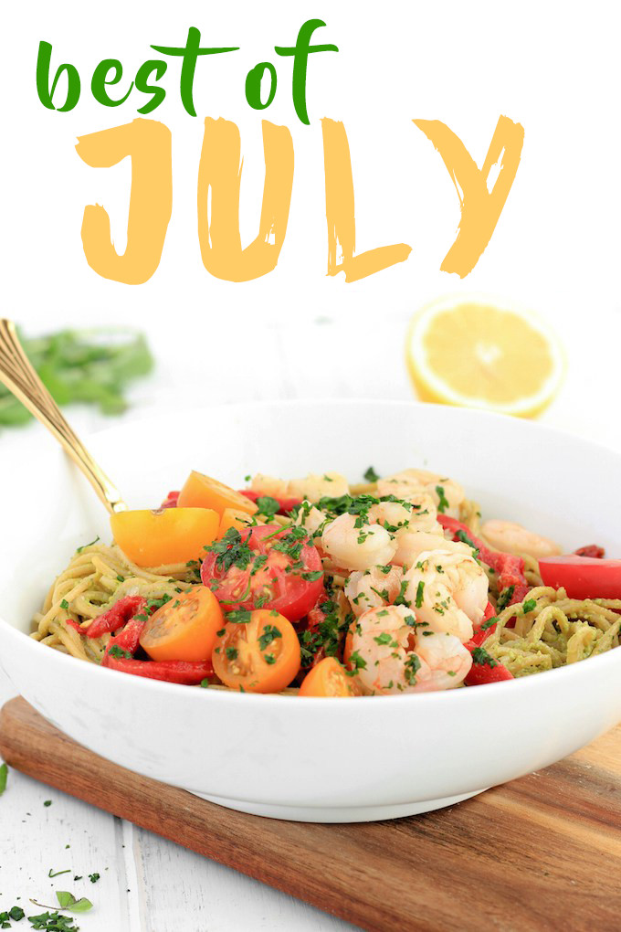 A recap of all the delicious recipes added to the blog in July.