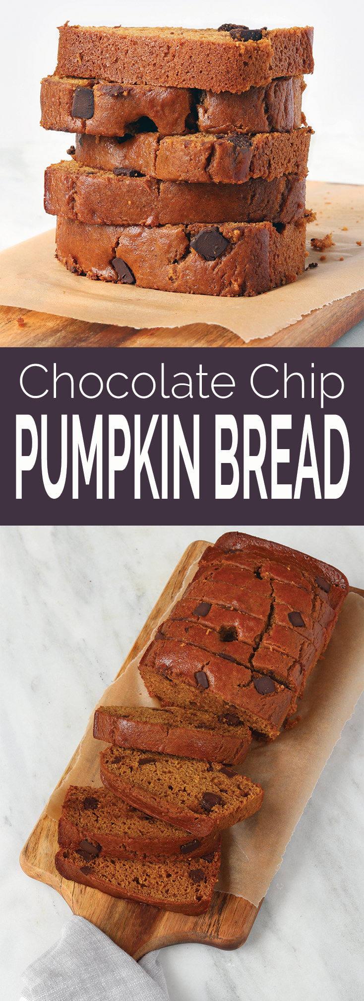 Healthy One-Bowl Chocolate Chip Pumpkin Bread
