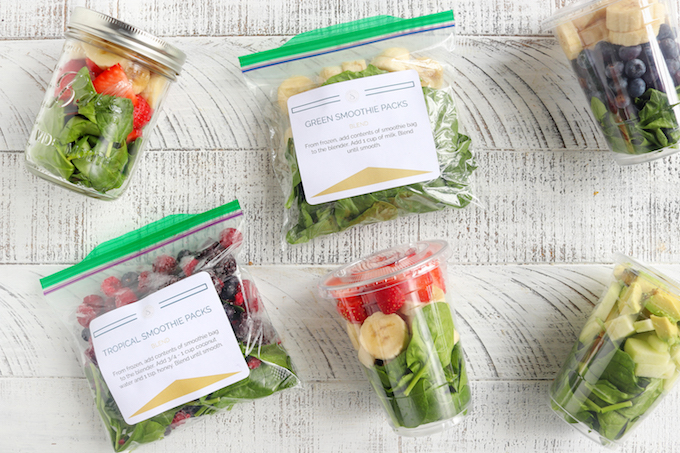 How To Meal Prep Freezer Smoothie Packs