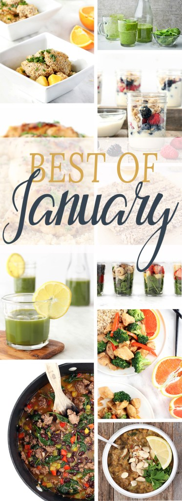 Best of January, a round-up of January recipes and happenings at Simply Sissom.
