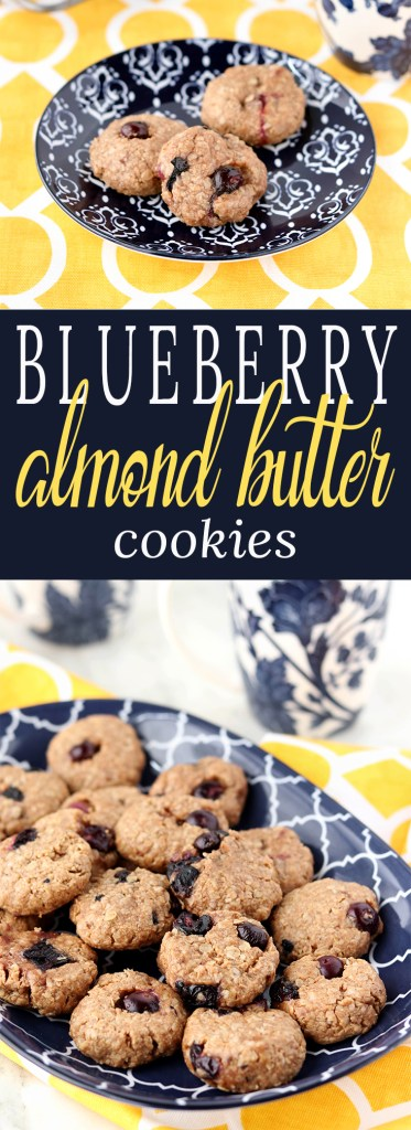 Almond Butter and Blueberry Cookies, a burst of blueberry paired with almond butter that's reminiscent of your favorite childhood lunch.
