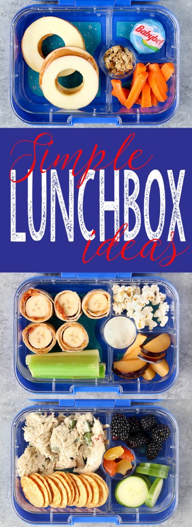 3 Simple and creative Lunchbox Ideas to help you pack real food lunches without spending hours and hours in the kitchen.