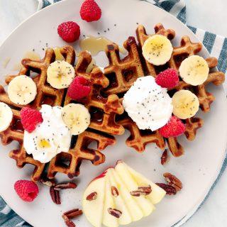 Freezer-Friendly Whole Wheat Gingerbread Waffles