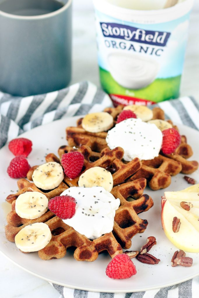 Simple, Freezer-Friendly Whole Wheat Gingerbread Waffles that are crisp on the outside and tender inside. A perfect healthy, quick and festive breakfast.