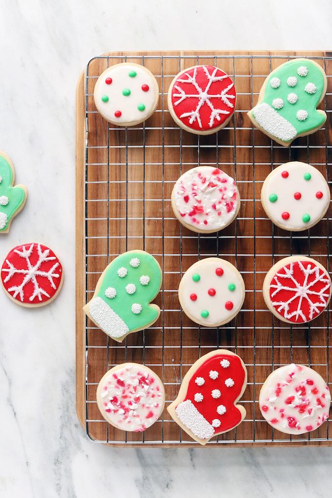 colorful christmas cookies
