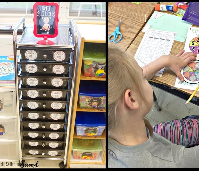guided math stations, math stations, math centers, organizing math stations