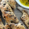 Kalamata Olive and Rosemary Fougasse with Fresh Herb and Pepper Dipping Oil