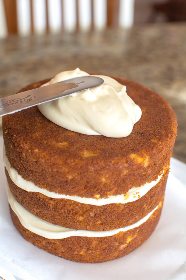 3 layer carrot cake with icing