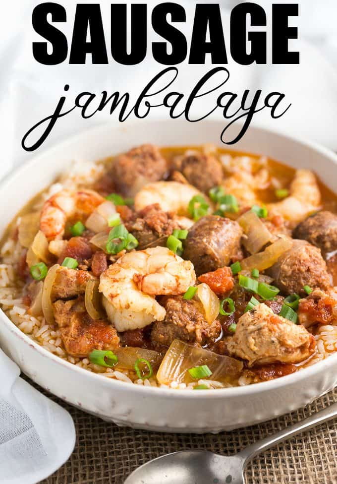 Sausage Jambalaya - An easy slow cooker meal with just the right mix of hot and spicy!