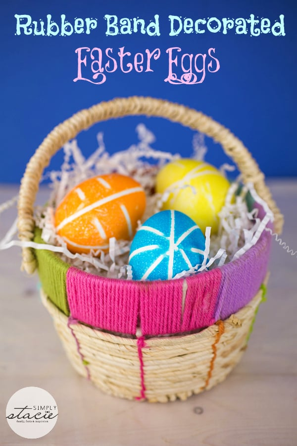 Rubber Band Decorated Easter Eggs | Simply Stacie