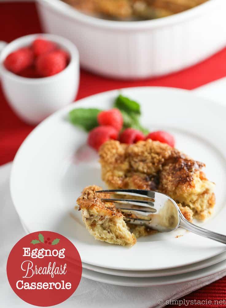 Eggnog Breakfast Casserole