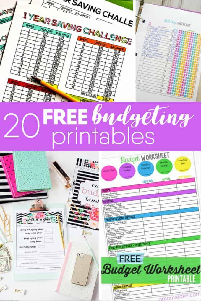 20 Free Budgeting Printables