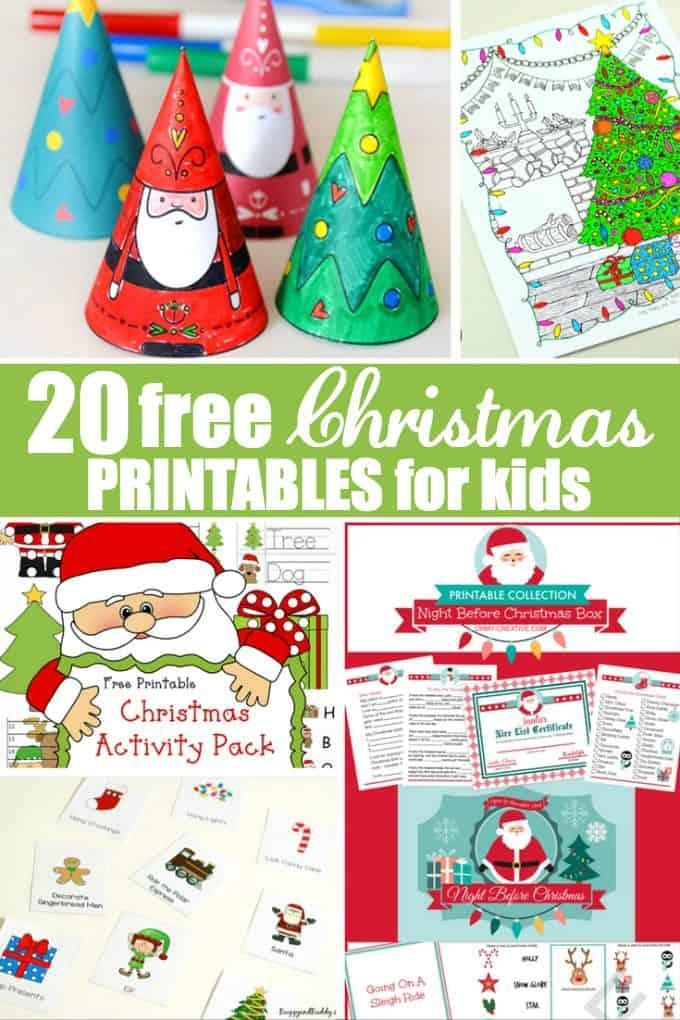 20 Free Christmas Printables For Kids Simply Stacie