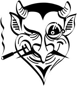 devil stamp impression