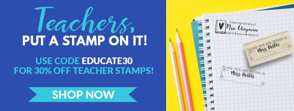 Simply Stamps 30% Off Teacher Stamps with Code EDUCATE30, Graph Paper with Teacher Stamps