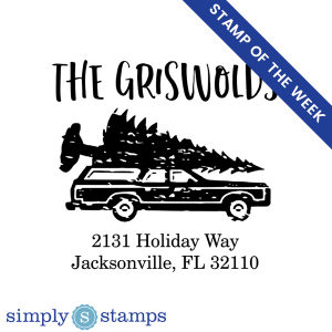 griswold holiday return address stamp