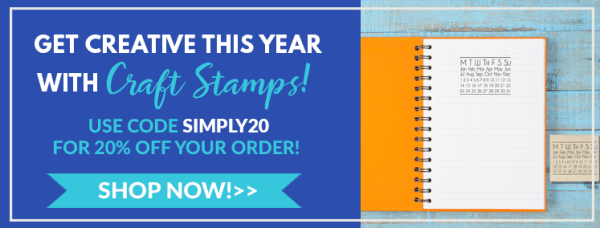 get creative this year with craft stamps, use code Simply20 for 20% off your order