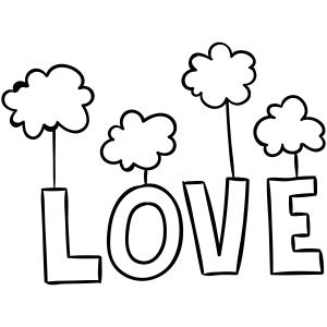 love clouds stamp