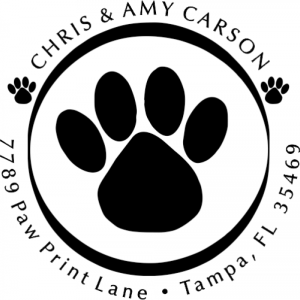 Paw Print Address Stamp