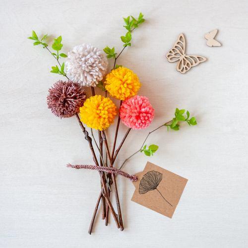 flower diy craft with floral stamp