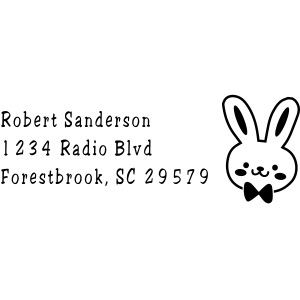 Bunny Bow Tie Craft Stamp