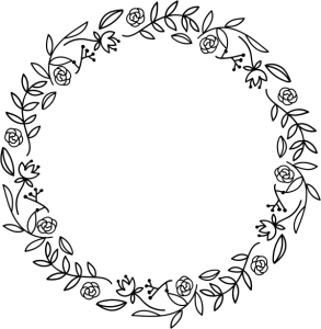 floral wreath stamps