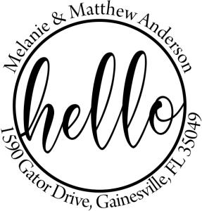 Custom hello script address stamps