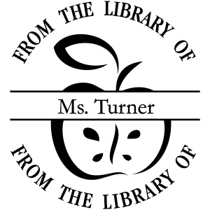 from the library of teacher stamp