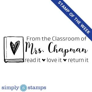 custom classroom book stamp