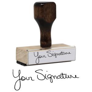 traditional signature stamp