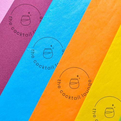 stamped logo tissue paper